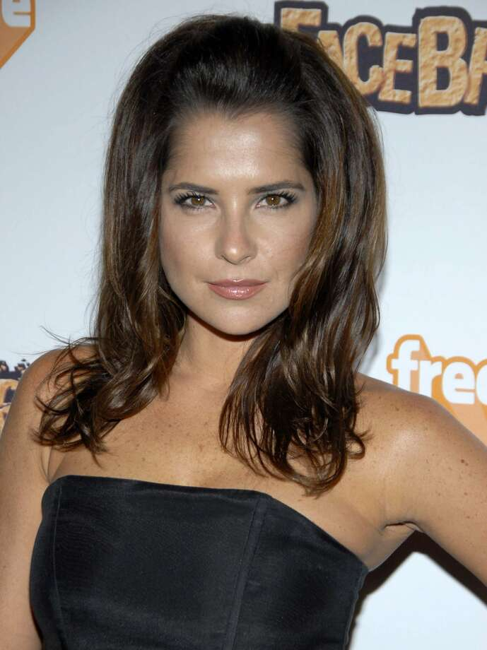 """General Hospital"" actress Kelly Monaco at the EA Sports Freestyle ""Facebreaker"" video game launch party in Los Angeles. (DAN STEINBERG / Associated Press)"