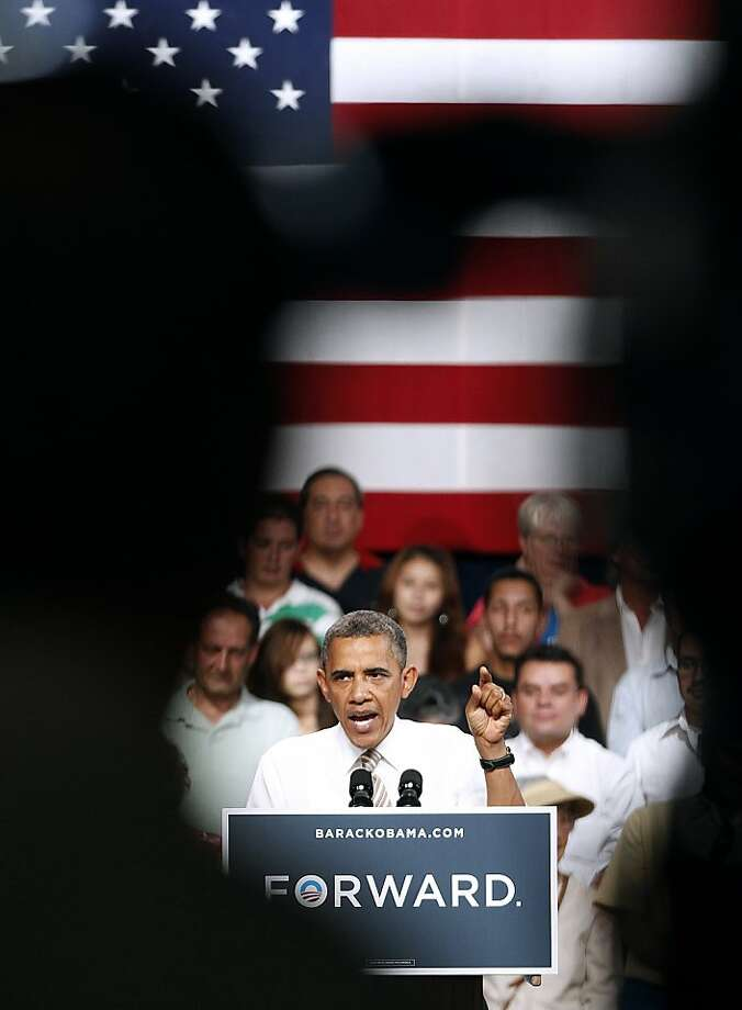 President Obama campaigns in Pueblo, Colo., a state he's giving great attention to because it offers him the smoothest path to victory. Photo: Marc Piscotty, Getty Images