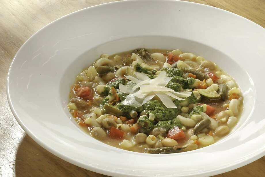 Vegetarian Main Course: Soupe au Pistou; styling by Amanda Gold Photo: Craig Lee, Special To The Chronicle