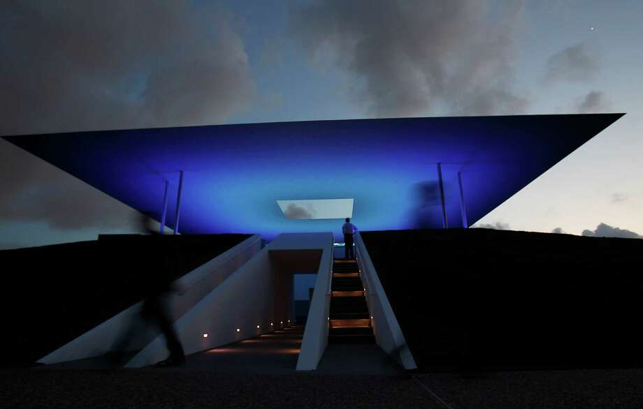 "Check out James Turrell's ""Twilight Epiphany"" Skyspace at Rice University. (Karen Warren / Houston Chronicle) Photo: Karen Warren / © 2012  Houston Chronicle"