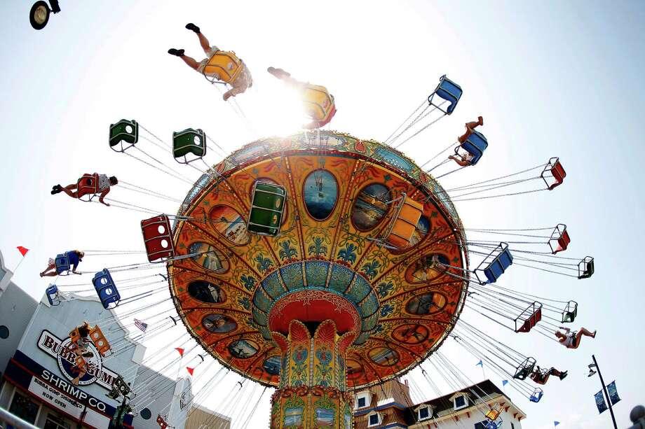Take a swing on Galveston's new Pleasure Pier. (Karen Warren/Houston Chronicle) Photo: Houston / © 2012  Houston Chronicle