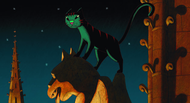 "Dino lives a double life in ""A Cat in Paris."" Photo: GKids"