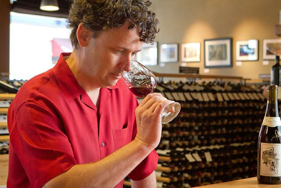 Dan Dawson, owner of Back Room Wines in Napa, offers a selection of wines based on his own tastings, rather than point ratings from critics. Photo: John Storey, Special To The Chronicle