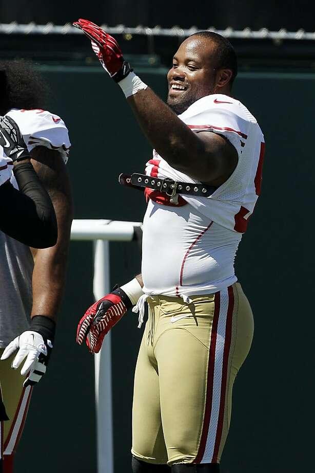 "Linebacker Ahmad Brooks says he's leaner and ""feeling a little bit more swift."" Photo: Jeff Chiu, Associated Press"