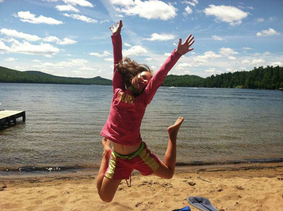 Kylie Smith's daughter enjoys Silver Lake last month during a trip with the family. Silver Lake is located in the Adirondacks at Au Sable Forks. (Kylie Smith)
