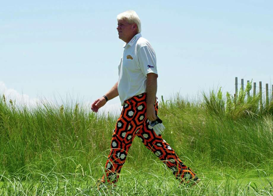 John Daly was opening eyes with his golf game instead of just his colorful pants on Thursday. Photo: DON EMMERT / AFP