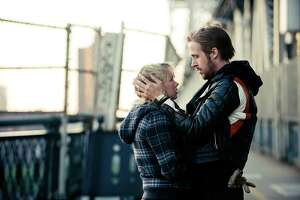 "FILE - In this publicity file photo released by The Weinstein Company, Michelle Williams, left, and Ryan Gosling, are shown in a scene from, ""Blue Valentine."""