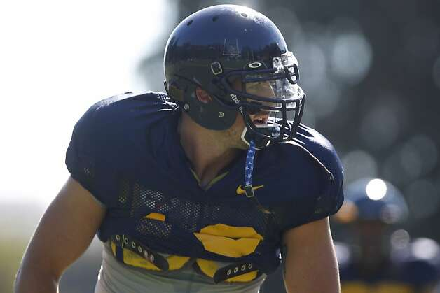 Years after arriving at Cal, linebacker Lucas King hopes to show coaches enough in preseason practice to make his first game appearance. Photo: Stephen Lam, Special To The Chronicle