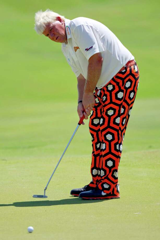 John Daly watches his putt on the 13th hole during the first round for the PGA Championship golf tournament on the Ocean Course of the Kiawah Island Golf Resort in Kiawah Island, S.C., Thursday, Aug. 9, 2012. (AP Photo/John Raoux) Photo: John Raoux