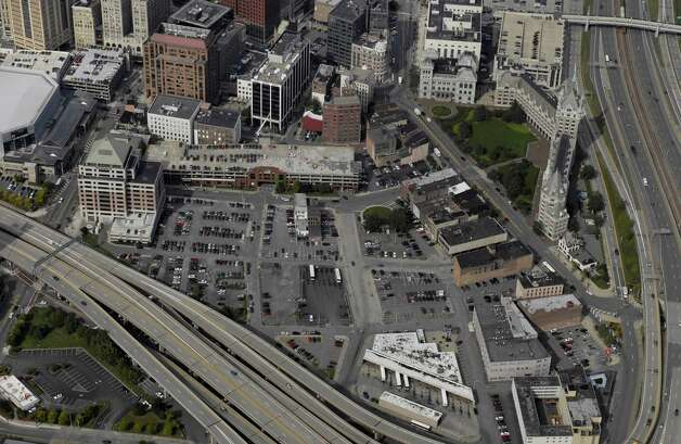 Aerial view of the proposed Albany convention center site in Albany N.Y., Monday September 18 2006. (Will Waldron / Times Union archive) Photo: WW / ALBANY TIMES UNION