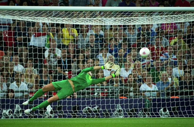 United States goalkeeper Hope Solo makes a save during the 82nd minute against Japan during the wome