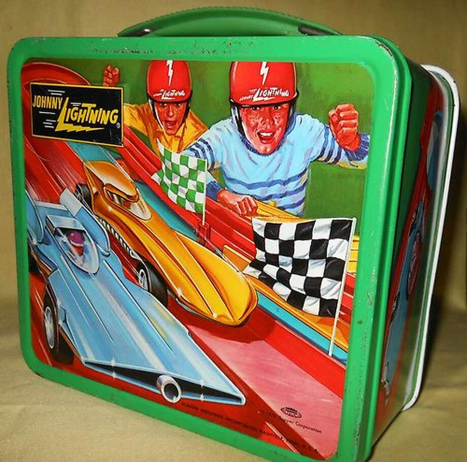 A 1970 Johnny Lightning lunchbox, which goes for up to $90 today on eBay. (eBay)