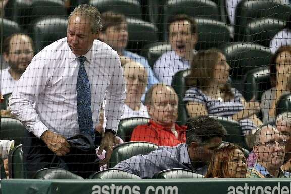 Astros owner Jim Crane, leaving his Diamond Club seat during the seventh inning of Thursday night's loss, says he has not lost enthusiasm for his team's long-range prospects but admits the 4-34 slide is painful.