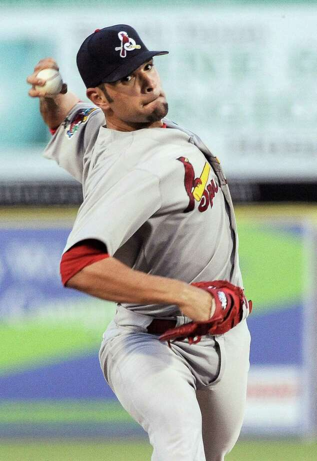 Springfield Cardinals' Jaime Garcia pitches during a Texas League baseball game against the San Antonio Missions, Thursday, Aug. 9, 2012, in San Antonio. Photo: Darren Abate, For The Express-News