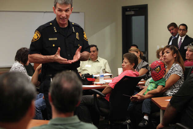 Residents recently met with SAPD Chief William McManus to discuss problems associate with Haven for Hope, an open discussion that a reader says is necessary to deal with the homeless problem. Photo: Lisa Krantz, San Antonio Express-News / San Antonio Express-News