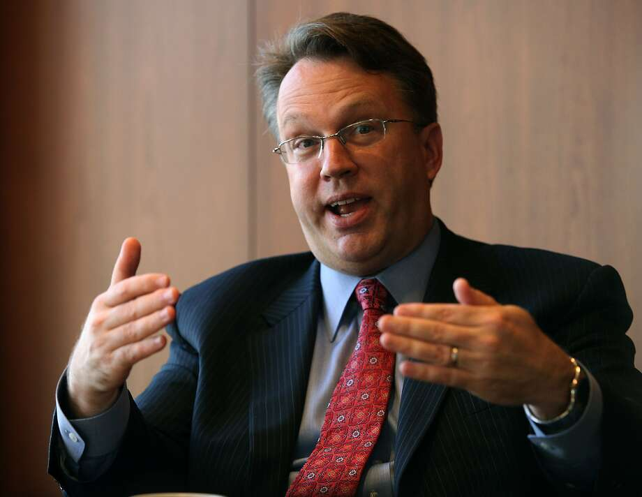 John Williams, president of the SF Federal Reserve Bank talking about the economy in San Francisco, Calif., on Wednesday, August 8, 2012. Photo: Liz Hafalia, The Chronicle