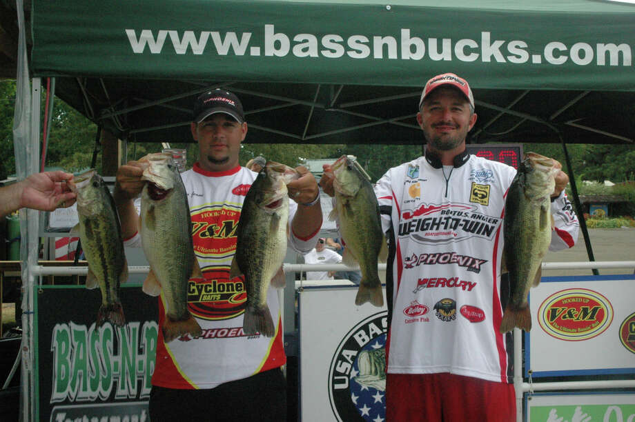 Gleason and Jeane went deep for the Bass ?N Bucks Toledo Bend Summer Series and came out on top with 19.63 lbs Photo: Jodie Warner