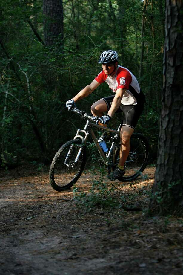 Test your endurance on the bike trails at Memorial Park. (Kevin Fujii / Chronicle file) Photo: Kevin Fujii, Houston Chronicle / Houston Chronicle