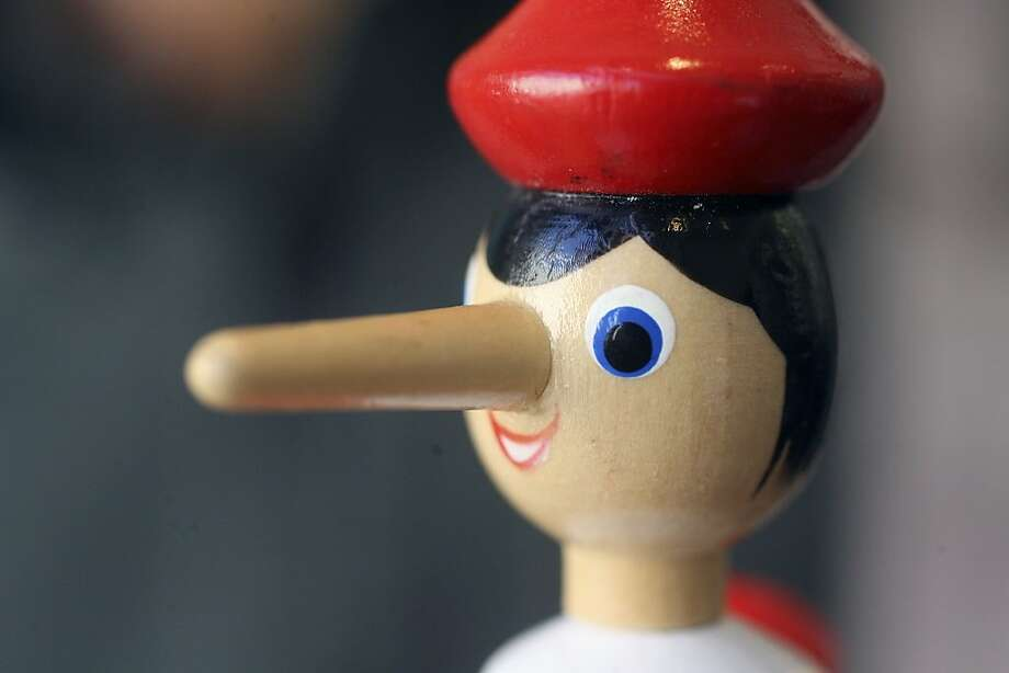 Pinocchio's nose grows when he tells a lie. Photo: X