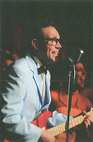 "This is Chris Huber.  Not only does he look just like Buddy Holly, he sounds just like Buddy Holly.  Chris Huber starred last summer in ""The Buddy Holly Story"" at the Point Theatre in Ingram.  This was followed by a sell-out concert at the Cailloux Theatre in Kerrville. -- Debbie Vieau Photo: Handout, Debbie Vieau"