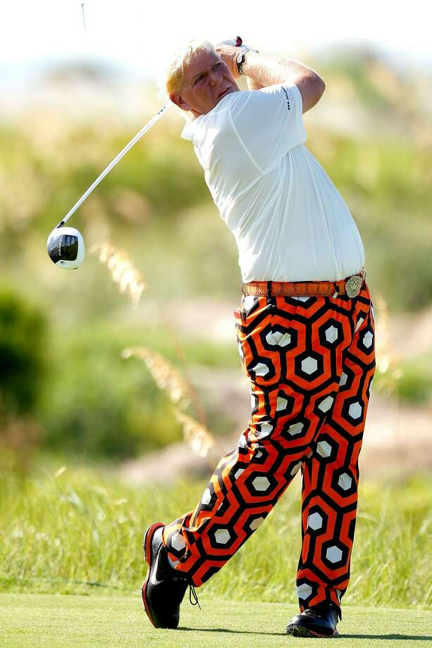 John Daly of the United States hits off the sixth tee during Round One of the 94th PGA Championship at the Ocean Course on August 9, 2012 in Kiawah Island, South Carolina.  (Jonathan Ferrey / Getty Images)