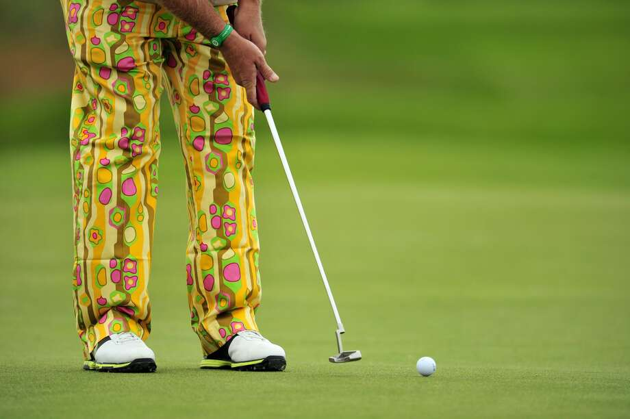 John Daly of the US putts on the 5th green during a practice round for the 2012 British Open Golf Championship at Royal Lytham & St Anne's in Lytham, north-west England, on July 18, 2012 ahead of the Open Championship which begins on July 19.  (GLYN KIRK / AFP/Getty Images)