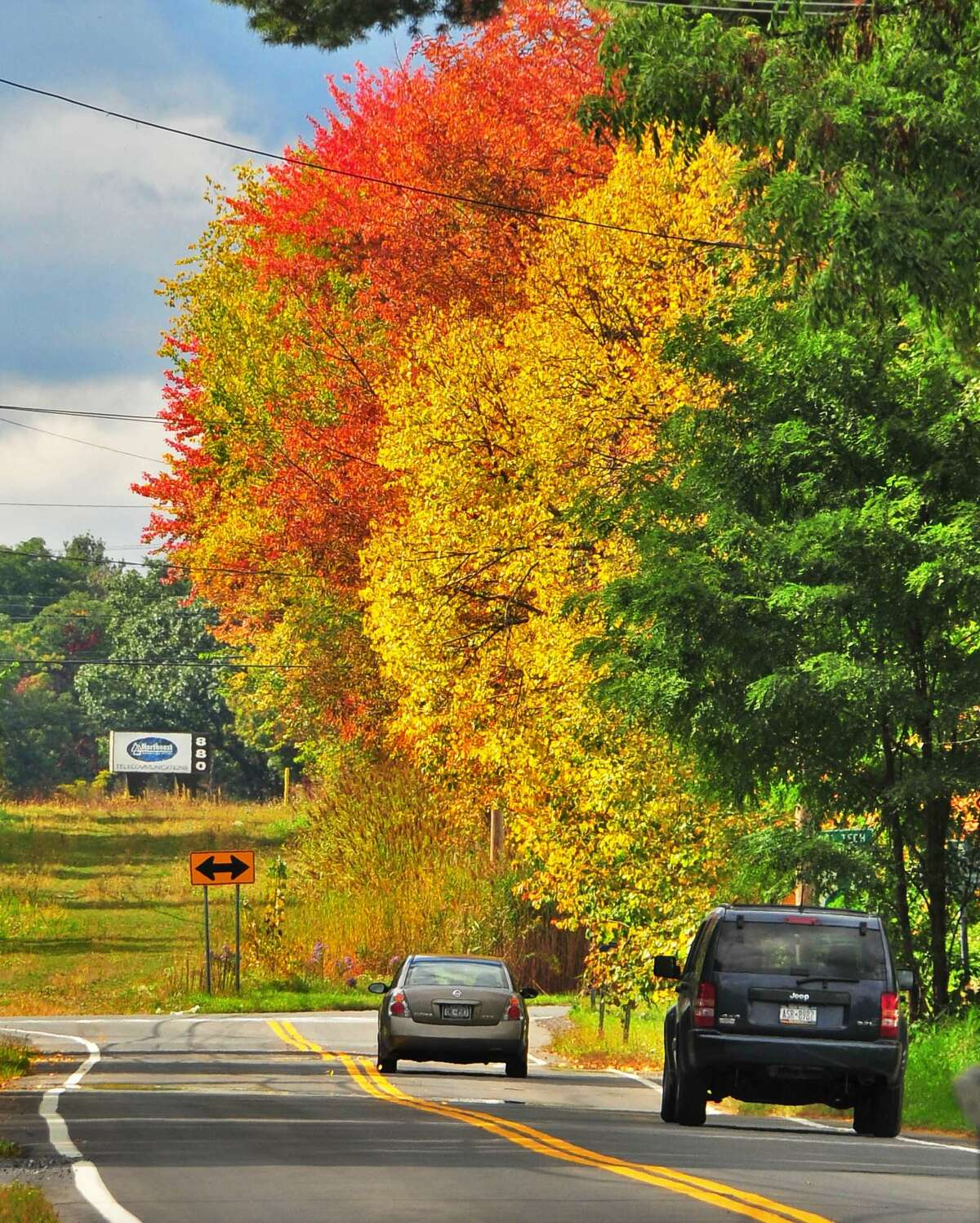 Fall foliage is one of our favorite things about living in Upstate New York. The changing colors make the Northway traffic easier to deal with. (John Carl D'Annibale / Times Union)