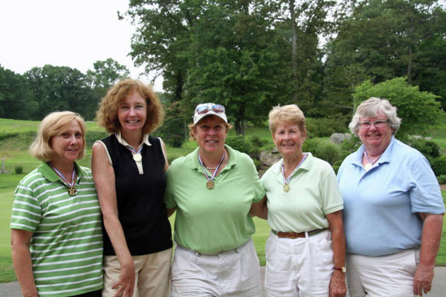The Oak Hills Women's Golf Association in Norwalk recently held its Club Championships. Pictured, from left to right, is D Flight winner Rita Festo, B Flight winner Pat Campbell, club champion Marilyn Rowe, A Flight winner Marge Connelly, and C Flight winner Sharon Weaver. Photo: Contributed Photo