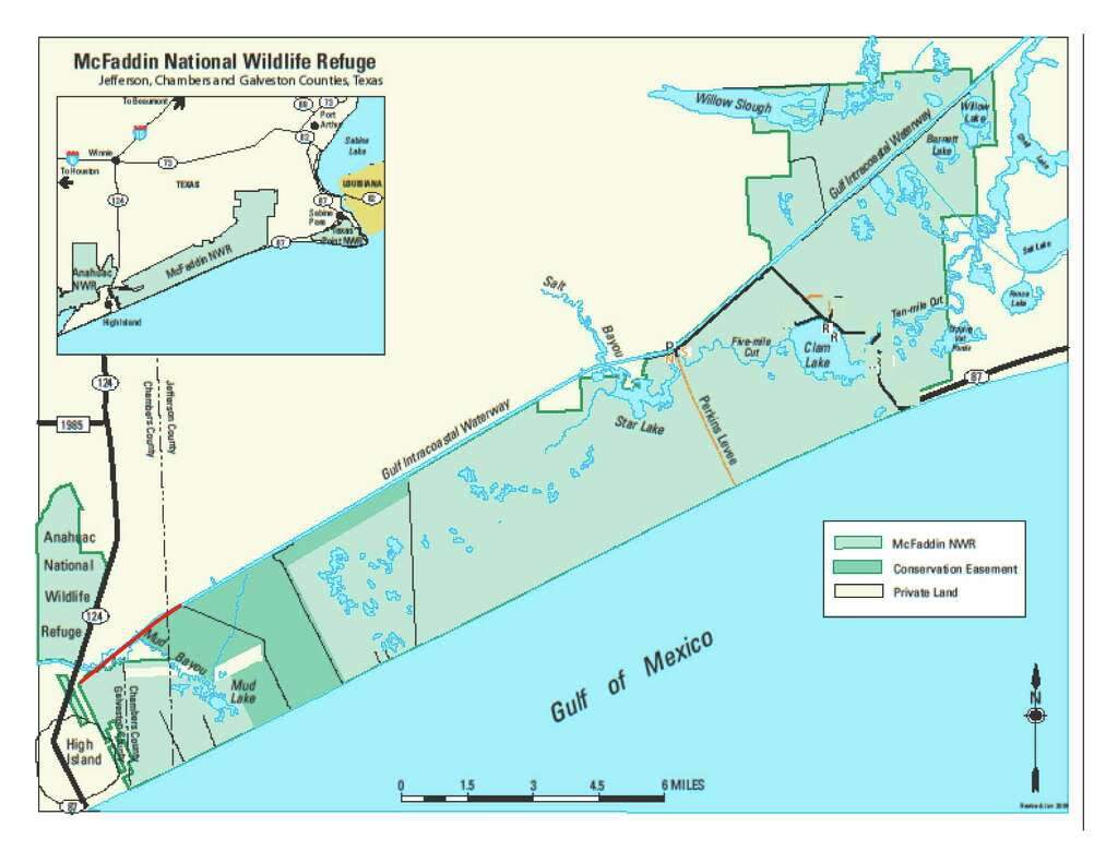 Update McFaddin National Preserve Opens After Multiple Fires - Map of us and wildlife preserves