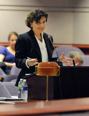 Assistant Attorney General Maite Barainca speaks during a hearing before the state Claims Commissioner Friday, August 10, 2012 at the Legislative Office Building in Hartford, Conn.  Charla Nash is seeking permission from the commissioner to sue the state for $150 million in damages from a 2009 chimpanzee attack. Photo: Autumn Driscoll / Connecticut Post