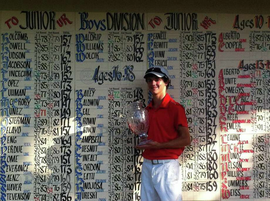 Nederland's Braden Bailey at the STPGA tournament. Photo: Submitted Photo
