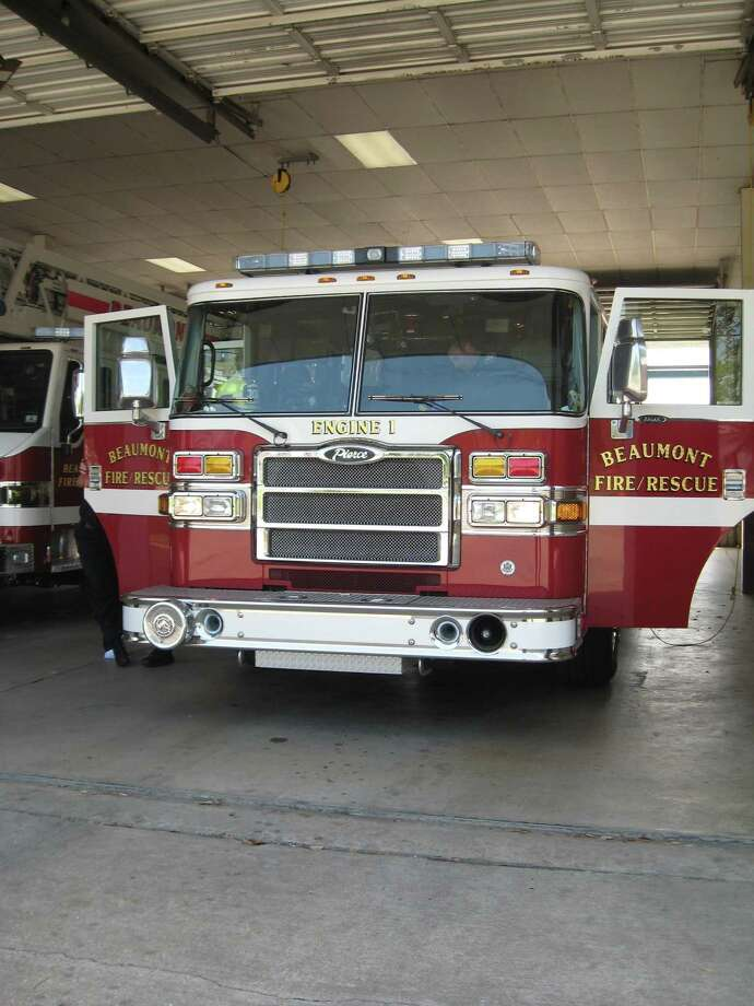 Engine 1 was added to the fleet in 2007. It is a basic fire engine and cost roughly $594,000. The City of Beaumont will be asked to approve the purchase of another engine in Sept.  Photo taken   Ioanna Makris /The Enterprise