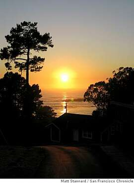 The Cottages at Little River Cove offer spectacular views of the sea at sunset.