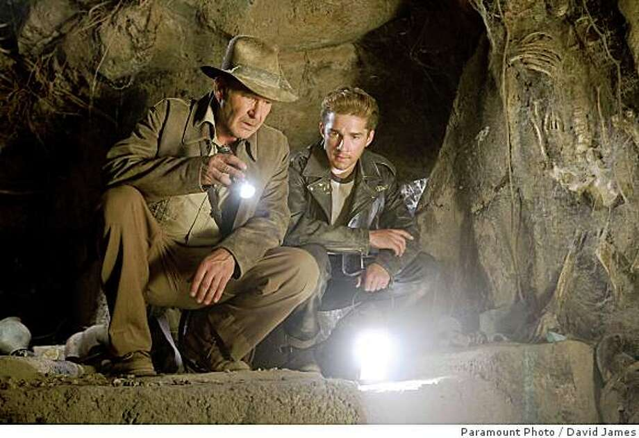 "Harrison Ford and Shia LaBeouf in ""Indiana Jones and the Kingdom of the Crystal Skull."" Photo: Paramount Photo, David James"