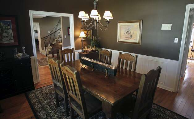 SPACES  TAYLOR   Dining room. Home of Amy Taylor in New Braunfels on August 8, 2012. (San Antonio Express-News)