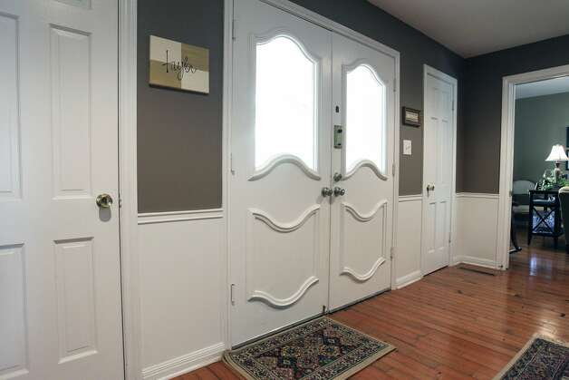 SPACES  TAYLOR   Paneling treatment at front entry. Home of Amy Taylor in New Braunfels on August 8, 2012. (San Antonio Express-News)