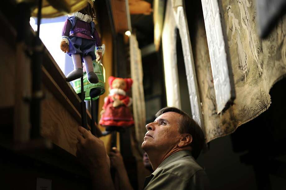"Randal Metz, the head of The Puppet Company theater, plays ""The Three Spinning Fairies""  at Children's Fairyland at Lake Merritt on Wednesday, Aug 8, 2012 in Oakland, Calif. Photo: Yue Wu, The Chronicle"