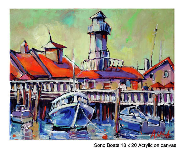 This boat painting by Allen Wittert will be included in the City by the Sea Art Fair Aug. 25-26 at Captain's Cove on Bridgeport's Black Rock Harbor. Photo: Contributed Photo