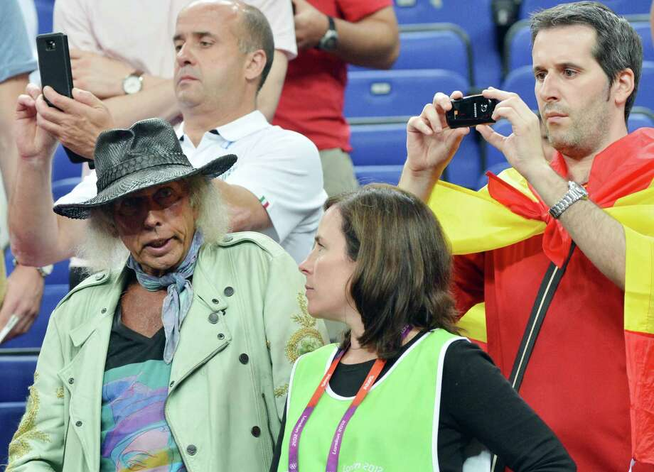 US fan James Goldstein attends the London 2012 Olympic Games men's semifinal basketball game between Argentina and the USA at the North Greenwich Arena in London on August 10, 2012. AFP PHOTO /MARK RALSTONMARK RALSTON/AFP/GettyImages Photo: MARK RALSTON, AFP/Getty Images / AFP