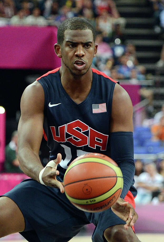 US guard Chris Paul is pictured in action during the London 2012 Olympic Games men's semifinal basketball game between Argentina and the USA at the North Greenwich Arena in London on August 10, 2012. AFP PHOTO /MARK RALSTONMARK RALSTON/AFP/GettyImages Photo: MARK RALSTON, AFP/Getty Images / AFP