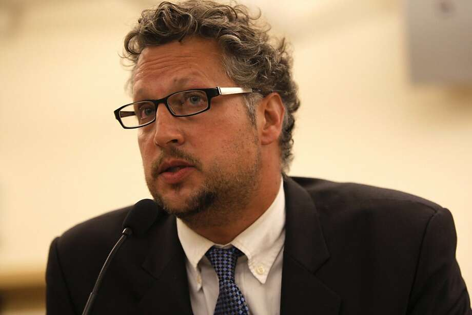 Candidate Andrew Resignato is seen speaking at the candidates debate for District Five supervisor at the Park Branch Library on Wednesday, August 8, 2012 in San Francisco, Calif. Photo: Megan Farmer, The Chronicle