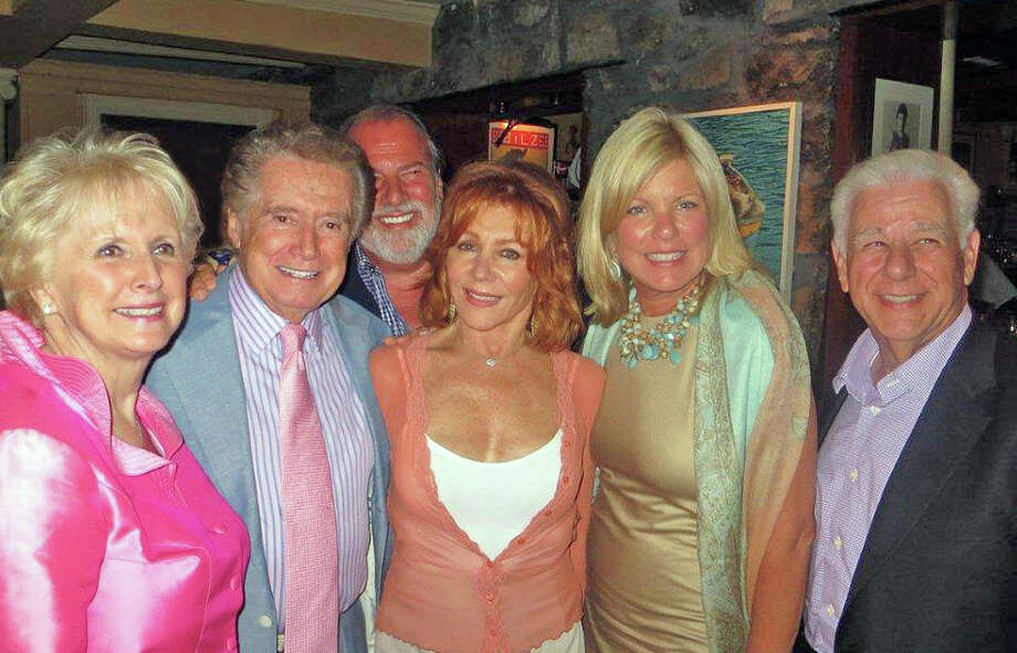 From left, Sharron Restivo, Regis Philbin, Basil Mavroleon, Joy Philbin, Cindy Rinfret and Ron Restivo at The Maritime Aquarium of Norwalk's annual fundraiser. Photo: Contributed Photo