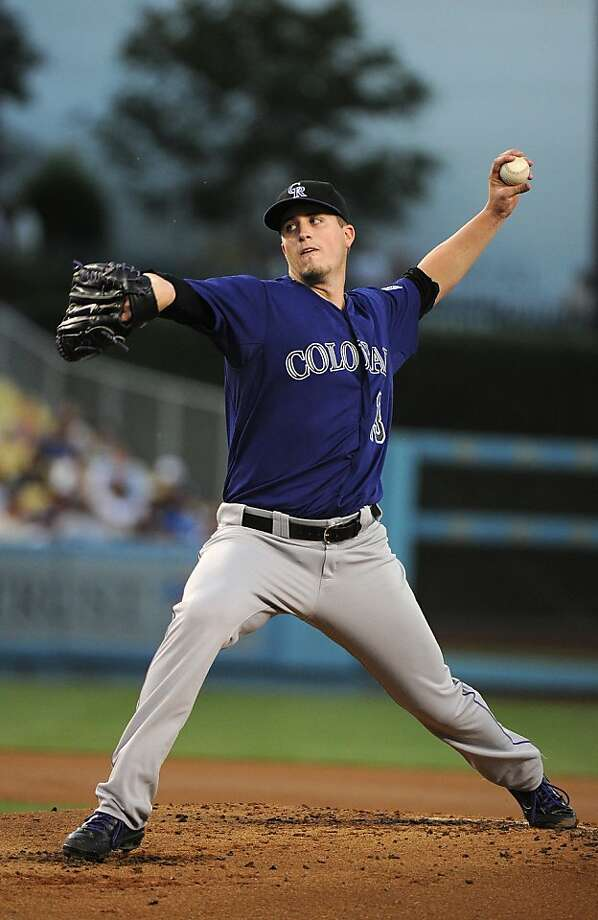LOS ANGELES, CA - AUGUST 06:  Drew Pomeranz #13 of the Colorado Rockies pitches against the Los Angeles Dodgers at Dodger Stadium on August 6, 2012 in Los Angeles, California.  (Photo by Lisa Blumenfeld/Getty Images) Photo: Lisa Blumenfeld, Getty Images