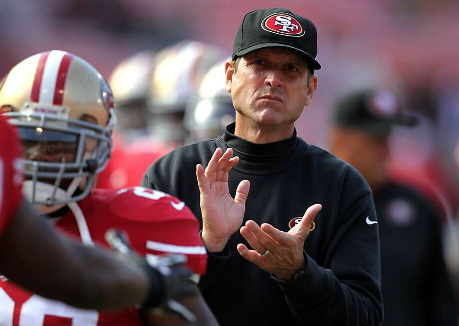 San Francisco 49ers head coach Jim Harbaugh prepares his team to face the Minnesota Vikings in a preseason exhibition game Friday August 10, 2012 in San Francisco Calif. Photo: Lance Iversen, The Chronicle