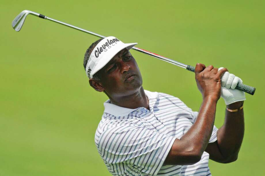 Vijay Singh, of Fiji, watches his shot on the 15th hole during the second round of the PGA Championship golf tournament on the Ocean Course of the Kiawah Island Golf Resort in Kiawah Island, S.C., Friday, Aug. 10, 2012. (AP Photo/Evan Vucci) Photo: Evan Vucci