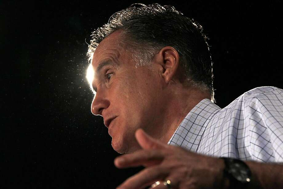 Mitt Romney will tour four must-win states in four days: North Carolina, Virginia, Florida and Ohio. Photo: Charles Dharapak, Associated Press