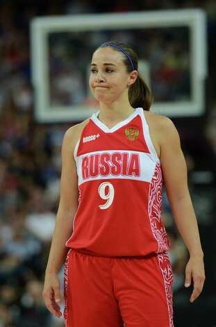 Russian guard Becky Hammon is pictured during the London 2012 Olympic Games women's bronze medal basketball game between Australia and Russia at the North Greenwich Arena in London on August 11, 2012. AFP PHOTO /TIMOTHY A.  CLARYTIMOTHY A. CLARY/AFP/GettyImages Photo: TIMOTHY A. CLARY, AFP/Getty Images / AFP