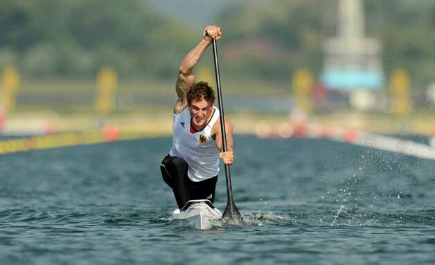 Sebastian Brendel of Germany competes in the men's canoe single 200m sprint final B on Saturday.   (Photo by Philip Brown - IOPP Pool /Getty Images) Photo: Pool, Ap/getty / 2012 Getty Images