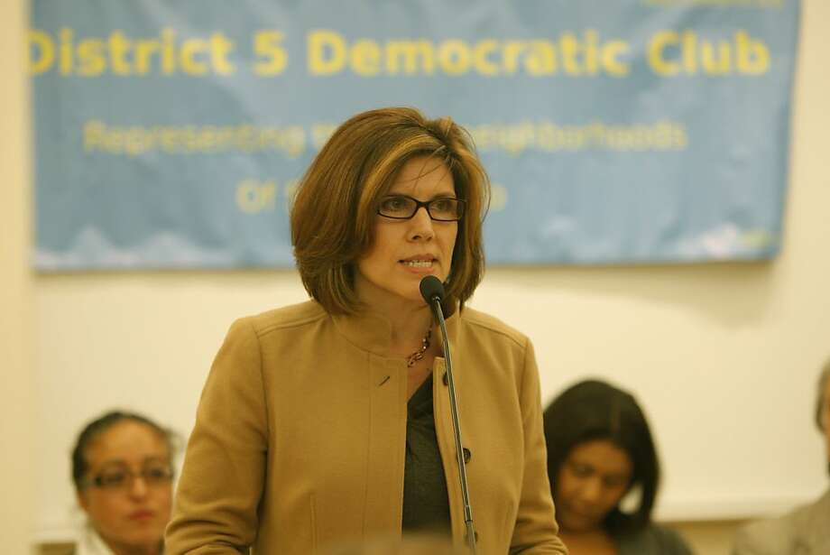 Candidate Hope Johnson is seen speaking at the candidates debate for District Five supervisor at the Park Branch Library on Wednesday, August 8, 2012 in San Francisco, Calif. Photo: Megan Farmer, The Chronicle