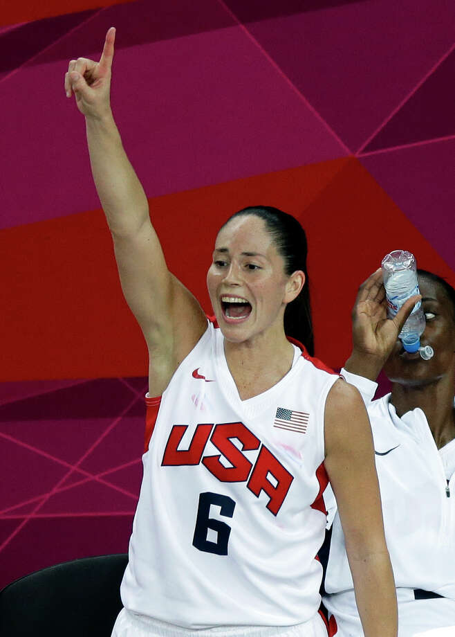 United States' Sue Bird reacts on the bench during a women's gold medal basketball game against France at the 2012 Summer Olympics, Saturday, Aug. 11, 2012, in London. (AP Photo/Victor R. Caivano) Photo: Ap/getty